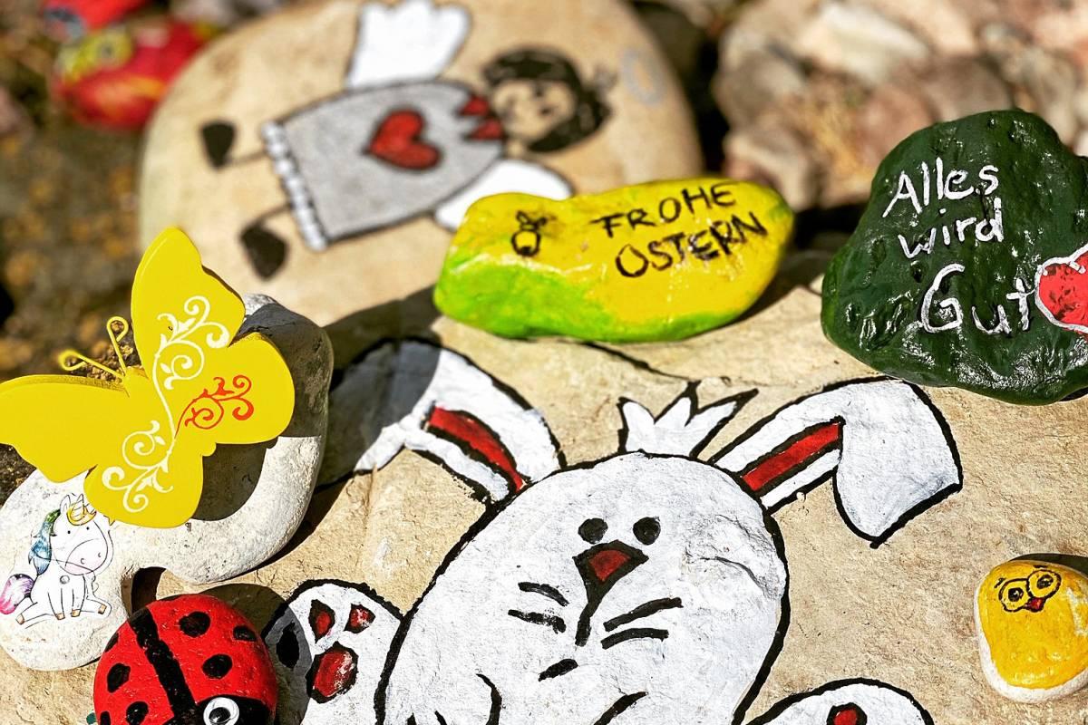 steine bemalen küken