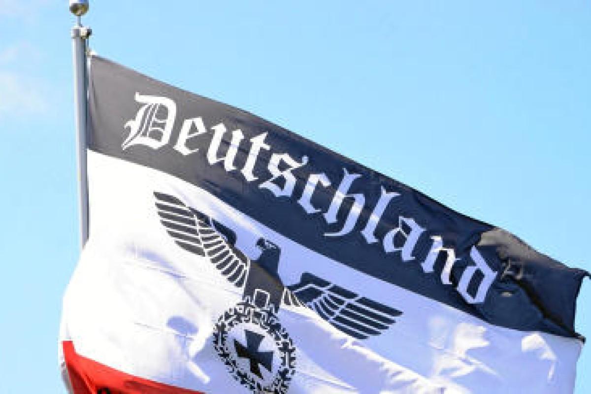 Schwarz Weiss Rote Flagge Erlaubt Deutschlands Fahnen Schwarz