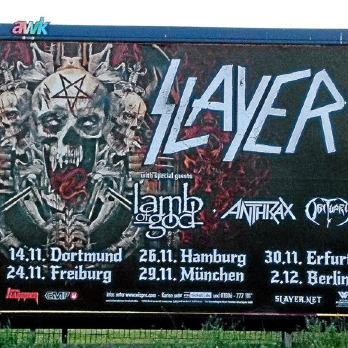 Tickets slayer freiburg Slayer Tickets,