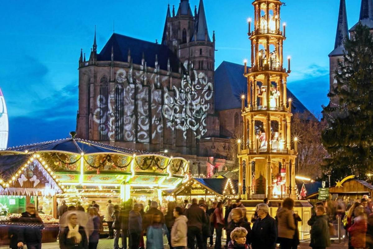 Weihnachtsmarkt Erfurt.Der Weihnachtsmarkt In Erfurt 2018 Alles Rund Ums Programm
