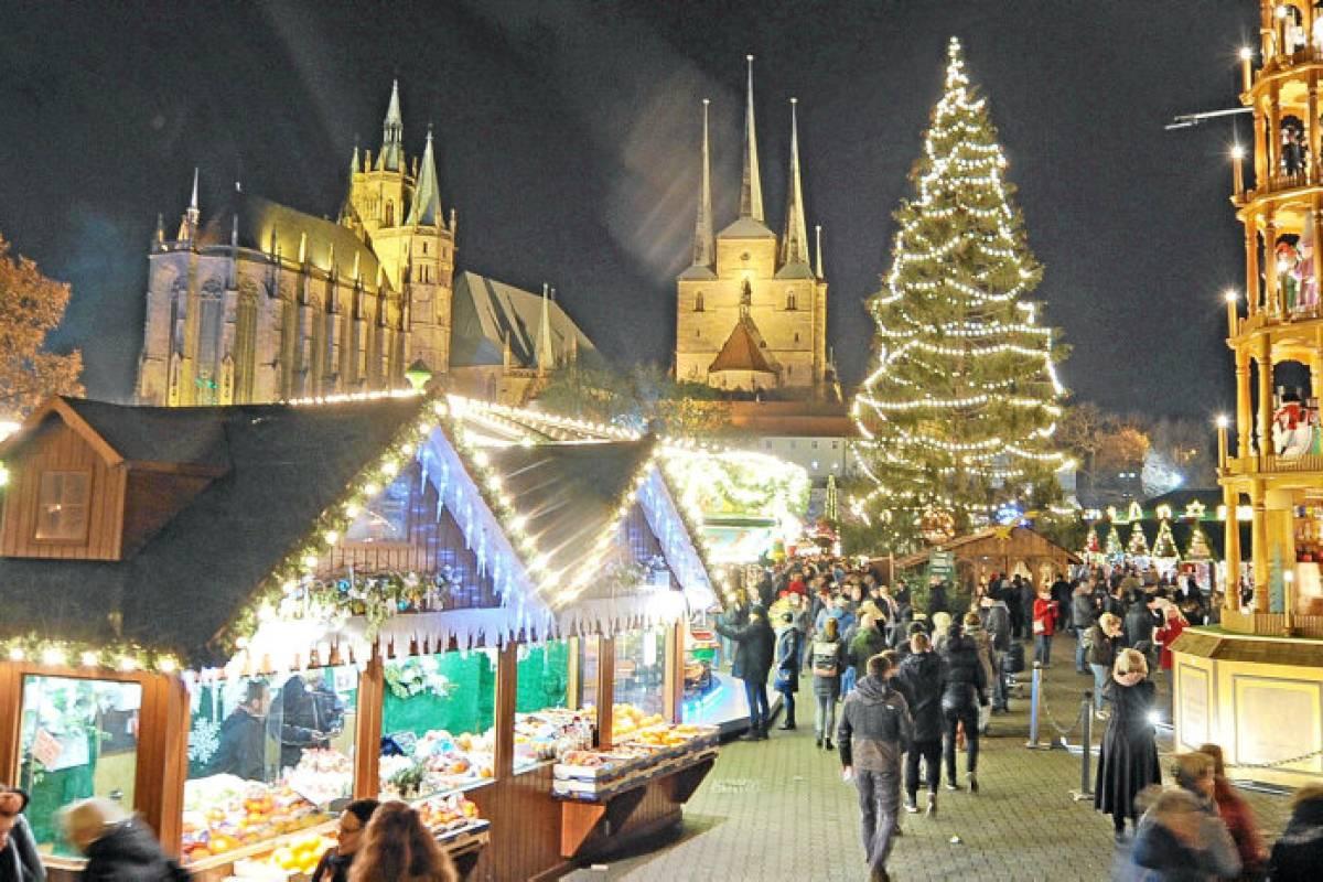 Bester Weihnachtsmarkt In Deutschland.Platz 1 In Deutschland Erfurt Hat Den Schönsten Weihnachtsmarkt