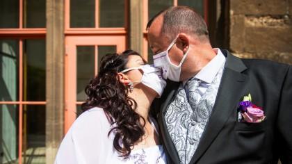 Eheschließungen während der Corona-Krise liefen anders ab als sonst.